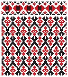 Texture Ukrainian Embroidery Royalty Free Stock Photos