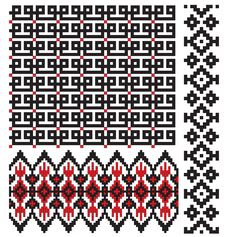 Ukrainian Embroider Pattern Texture