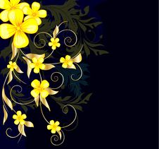 Free Floral Background With Stars Royalty Free Stock Photography - 14031027