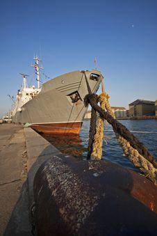 Free SHIP DOCKED IN PORT Stock Image - 14031111