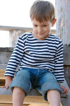 Free Boy In Sailor S T-shirt Stock Photos - 14031203