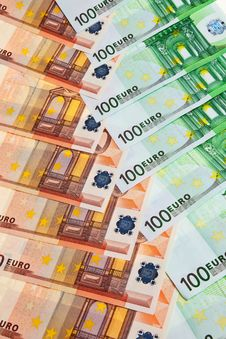 Free 100 And 50 Euro Banknotes. Stock Photos - 14031443