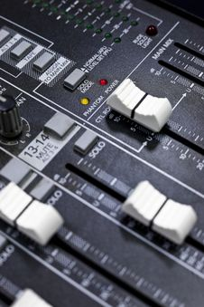 Free Broadcast Control Board Royalty Free Stock Photos - 14031618