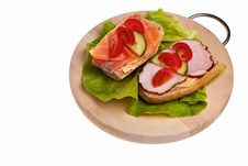 Free Two Sandwiches. Stock Images - 14031724