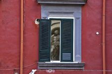 Free The Statue In The Window Royalty Free Stock Image - 14031856
