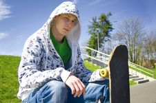 Teenage Skateboarder Conceptual Image. Royalty Free Stock Image