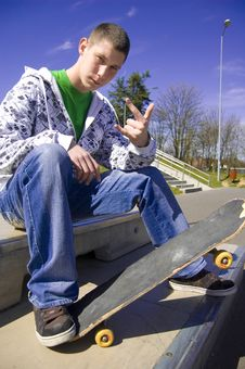 Teenage Skateboarder Conceptual Image. Stock Photos