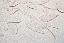 Free Bird Carve Wall Stock Photos - 14034183
