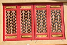 Free Baromraja Red Window Royalty Free Stock Image - 14034246