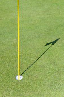 Golf Hole Stock Image