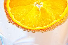Free Sliced Orange Fruits In Detail Royalty Free Stock Image - 14035336