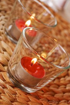 Free Romantic Candles Stock Image - 14035551