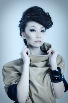 Free Fashionable Asian Royalty Free Stock Photography - 14036207
