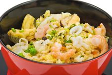 Free Rice And Seafood Royalty Free Stock Photos - 14036218