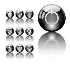 Free Set Of Shiny Icons Stock Images - 14036244
