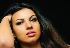 Free Portrait Of Beauty Brunette Girl Stock Photography - 14036392