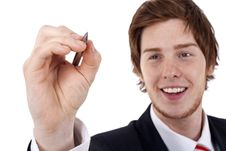 Free Businessman Writing Stock Image - 14036611
