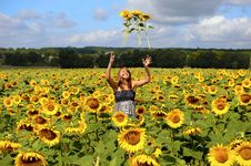 Free Woman Sun-three Stock Photography - 14036642