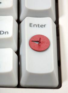 Free Drawing   Pin And Keyboard Royalty Free Stock Image - 14036666
