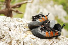 Climbing Shoes Stock Photo