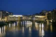 Free Florence, Old Bridge At Night Stock Photos - 14038703