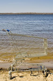 Free Trolley On Sand Royalty Free Stock Image - 14039356