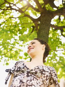 Free Young Woman In Park, Smiling Stock Photo - 14039570