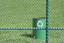 Free Green Recycling Trash Can Stock Photo - 14039580