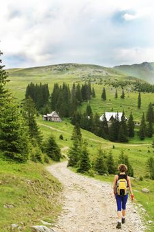 Free Trekking In The Mountains Royalty Free Stock Photography - 14039747
