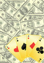Free Playing Cards And Money Royalty Free Stock Images - 14040749