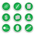 Free Green Sticker With Icon 9 Stock Photo - 14045260