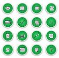 Free Green Sticker Royalty Free Stock Image - 14045896