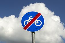 Free Bicycle Road Is Over. Stock Photography - 14040252