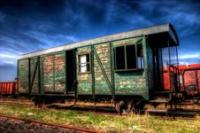 Free Ruined Postal Train Stock Photography - 14040402