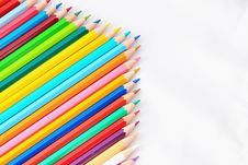 Free Color Pencil On The Floor Arrow Stock Image - 14040521