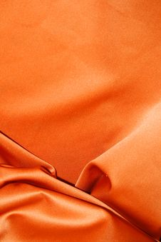 Free Orange Silk. Royalty Free Stock Image - 14040616