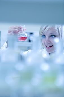 Free Closeup Of A Female Researcher Royalty Free Stock Photos - 14040898