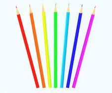 Free Colour Pencils Royalty Free Stock Photos - 14040948