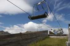 Free Chair Lift At Terminal Stop Stock Image - 14040971