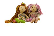 Free Dolls; Two Doll Friends Royalty Free Stock Image - 14041356