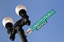 Free Constitution Avenue Sign Stock Photo - 14041580