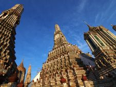 Wat Arun Pagoda In Bangkok Thailand Royalty Free Stock Photos