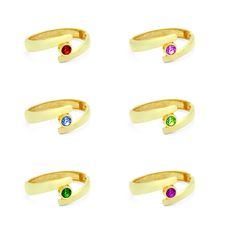 Free Golden Ring With Various Gem Stones Royalty Free Stock Photography - 14042007