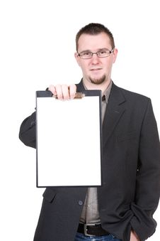 Free Man With Board Stock Photography - 14042012