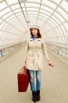 Free Girl At Station Royalty Free Stock Photography - 14042167