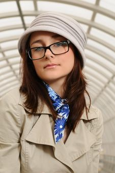 Free Girl At Station Royalty Free Stock Photo - 14042195