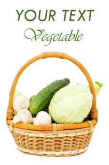 Free Wattled Basket With Vegetables Stock Photo - 14042800