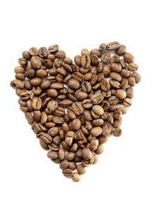 Free Coffee Bean Heart Stock Photos - 14042803