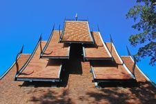 Roof Thai Style Royalty Free Stock Photo