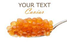 Free Teaspoon Red Caviar Stock Photos - 14043123
